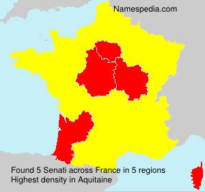 Familiennamen Senati - France