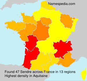 Familiennamen Sendre - France