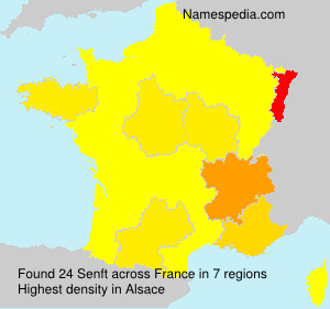 Surname Senft in France