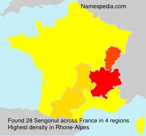 Surname Sengonul in France