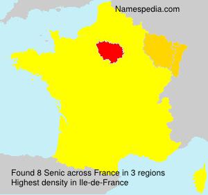 Surname Senic in France