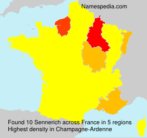 Surname Sennerich in France