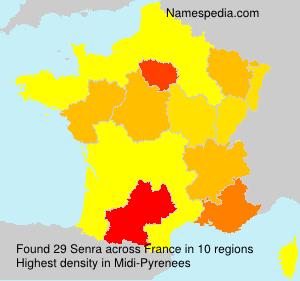 Surname Senra in France