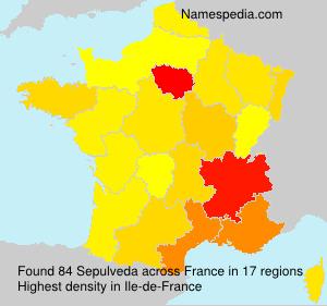 Surname Sepulveda in France