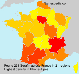 Surname Serafin in France