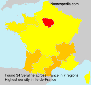 Surname Seraline in France