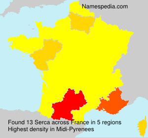 Familiennamen Serca - France