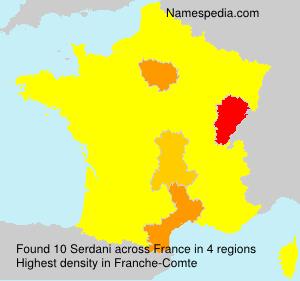 Familiennamen Serdani - France