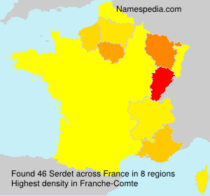 Surname Serdet in France