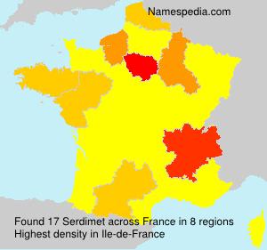 Familiennamen Serdimet - France