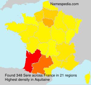 Familiennamen Sere - France