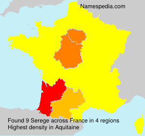 Surname Serege in France