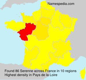Surname Serenne in France