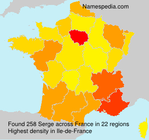 Surname Serge in France