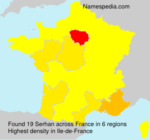Surname Serhan in France