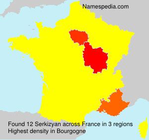 Surname Serkizyan in France
