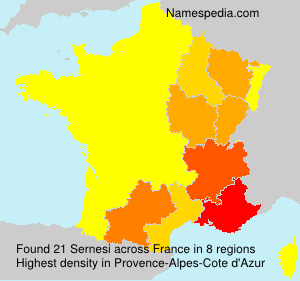 Surname Sernesi in France