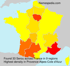 Surname Serou in France