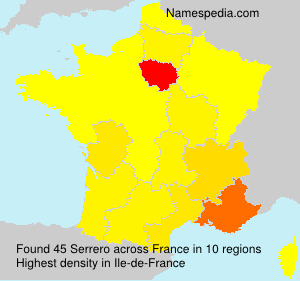 Surname Serrero in France