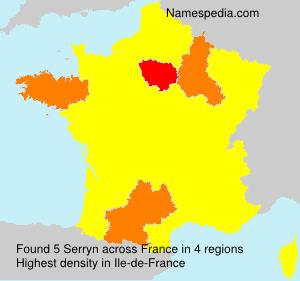 Surname Serryn in France