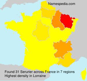 Familiennamen Serurier - France
