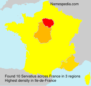Surname Servatius in France
