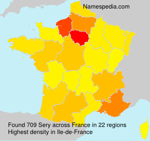 Surname Sery in France