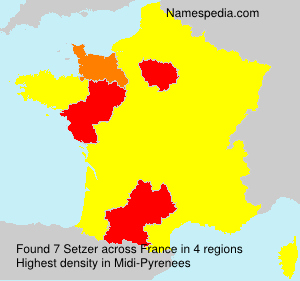 Surname Setzer in France
