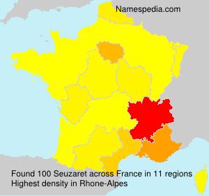 Familiennamen Seuzaret - France