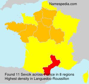 Surname Sevcik in France