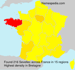 Surname Sevellec in France