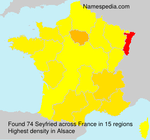Surname Seyfried in France