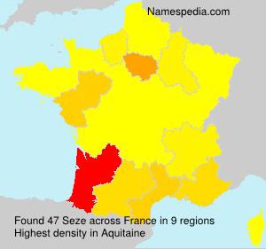 Familiennamen Seze - France