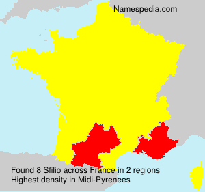 Surname Sfilio in France