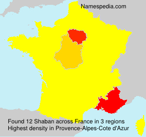 Surname Shaban in France