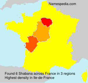 Surname Shabana in France