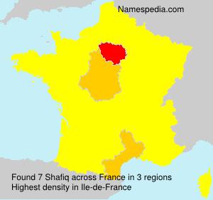 Familiennamen Shafiq - France
