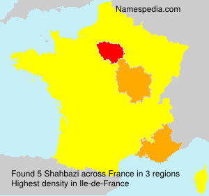 Surname Shahbazi in France