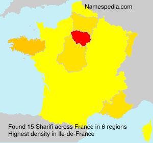 Surname Sharifi in France
