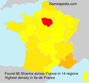 Surname Sharma in France
