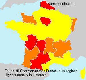 Surname Sharman in France