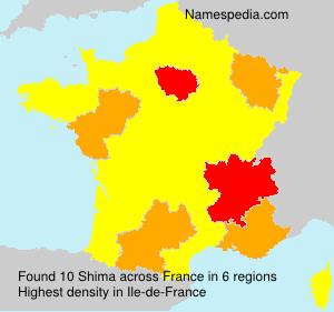 Surname Shima in France