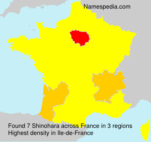 Surname Shinohara in France