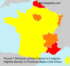 Surname Shirinyan in France