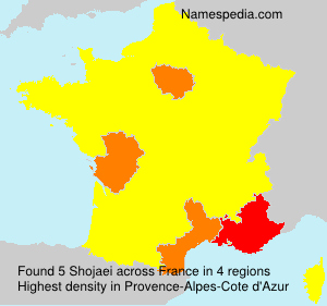 Surname Shojaei in France