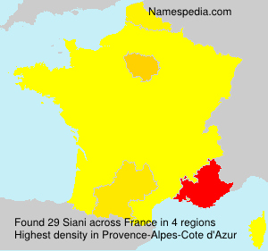 Surname Siani in France