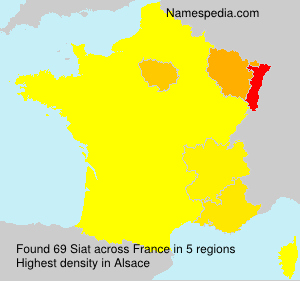 Surname Siat in France