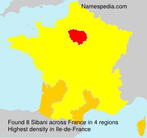 Surname Sibani in France