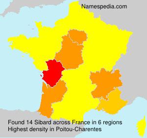 Familiennamen Sibard - France
