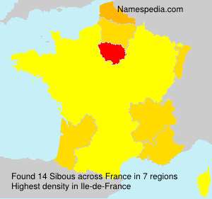 Surname Sibous in France